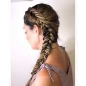 Stylist Makenzie - Side Braid Hair Style