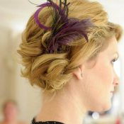 Updo With Feather Accent
